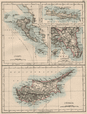 ATHENS & GREEK ISLANDS. Corfu Crete Cyprus Candia.Greece. JOHNSTON 1895 map